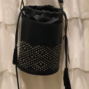 Brand NEW! With Tags. Black studded bucket bag